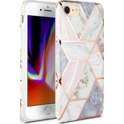 Etui TECH-PROTECT Marble do Apple iPhone 7/8/SE 2020 Różowy