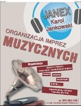 Logo firmy Organizacja Imrez Muzycznych  JANEX  Karol Jankowski