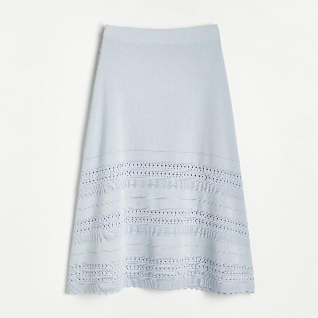 Reserved - Dzianinowa spódnica - Niebieski