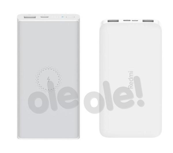 Xiaomi Mi Wireless Power Bank Essential 10000 mAh (biały) + Redmi Power Bank 10000 mAh 10W (biały)