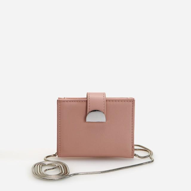 Reserved - Portfel z łańcuszkiem - Różowy