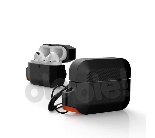UAG Rugged Silicone Case AirPods Pro (czarno-pomarańczowy)