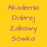 Logo firmy Akademia Dobrej Zabawy Sówka