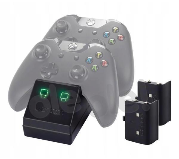 Venom VS2851 podwójna stacja dokująca do padów Xbox One + 2 akumulatory (czarny)