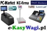 Logo firmy e-KasyWagi.pl KASY fiskalne WAGI elektroniczne OPROGRAMOWANIE dla firm USŁUGI informatyczn