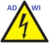 Logo firmy Instalacje elektryczne ADWI