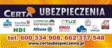 Logo firmy CERTA UBEZPIECZENIA, PROAMA, PZU, GENERALI, HDI, WARTA, HESTIA, UNIQA, MTU, INTERRISK, COMPENSA, TUZ, ENEFIA