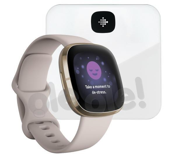 Fitbit sense (złoty) + Aria Air