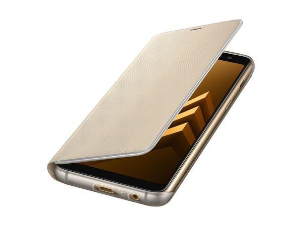 Etui Neon Flip do Samsung Galaxy A8 2018 złote
