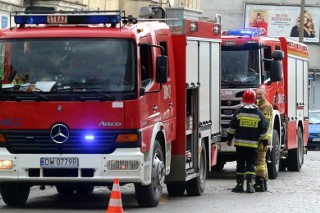 Pożar skupu złomu w Przysiece Polskiej