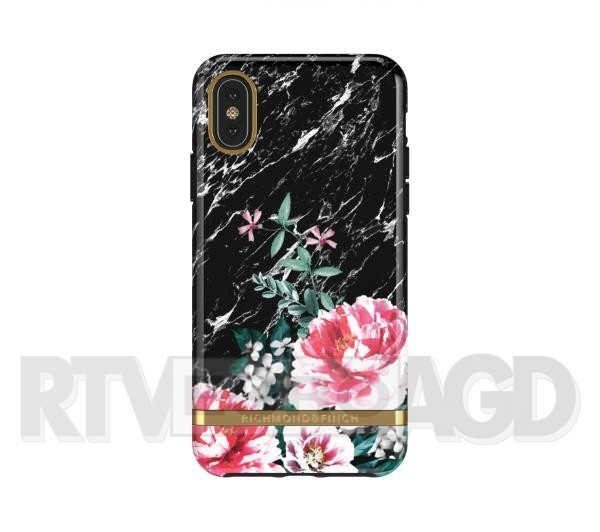 Richmond & Finch Black Marble Floral - iPhone X/Xs