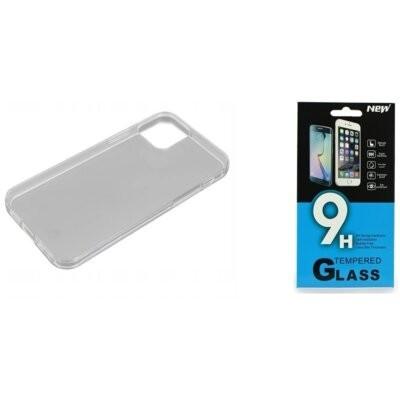 Etui BELINE do Apple iPhone 12/12 Pro Przezroczysty + Szkło hartowane