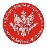 Logo firmy Akademia Polonijna w Częstochowie