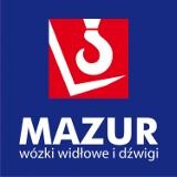 Logo firmy MAZUR wózki widłowe i dźwigi. Relokacje maszyn