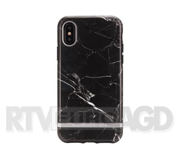 Richmond & Finch Black Marble - Silver Details iPhone Xs Max