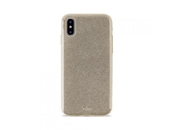 PURO Glitter Shine Cover do iPhone Xs Max (Gold)