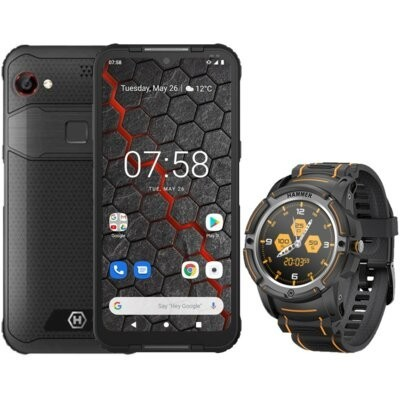 "Smartfon MYPHONE Hammer Blade 3 4/64GB 6.2"" Czarny + Smartwatch Hammer Watch Czarny"