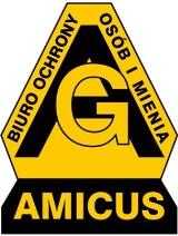 """Logo firmy Biuro Ochrony Osób i Mienia """"Amicus"""" Andrzej Głowacz"""