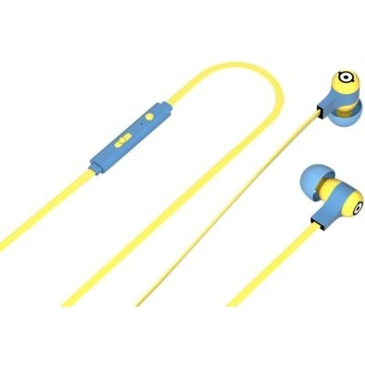 Słuchawki dokanałowe TRIBE EPW12100 Minionki Swing Carl Żółto-niebieski