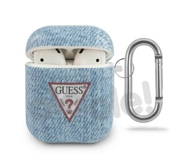 Guess GUACA2TPUJULLB Etui Jeans Collection AirPods (niebieski)