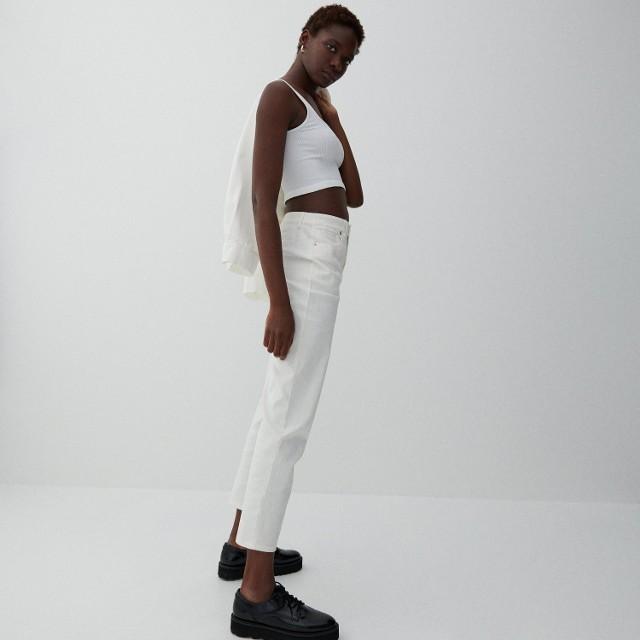 Reserved - Spodnie slim fit - Biały