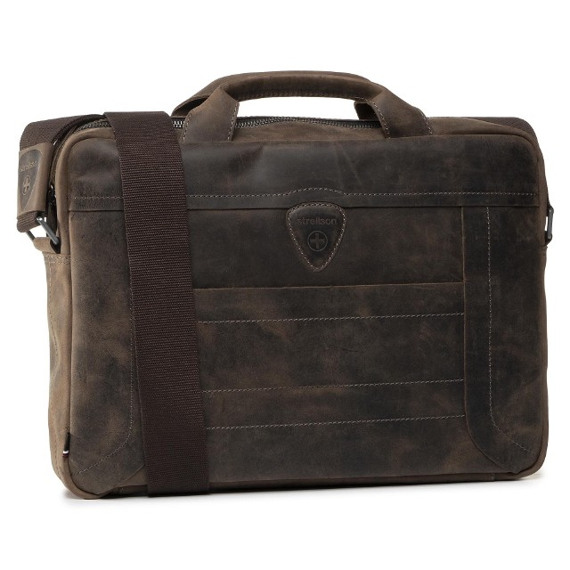 Torba na laptopa STRELLSON - Hunter 4010002639 Dark Brown 702