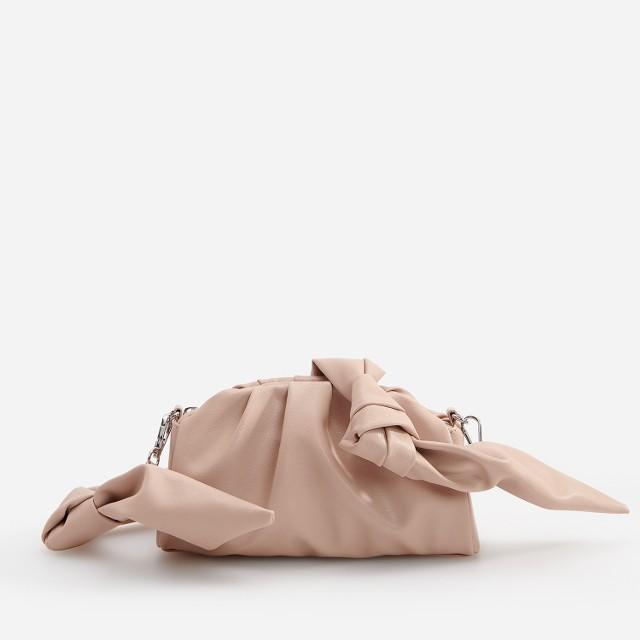 Reserved - Mała torebka z marszczeniem - Beżowy