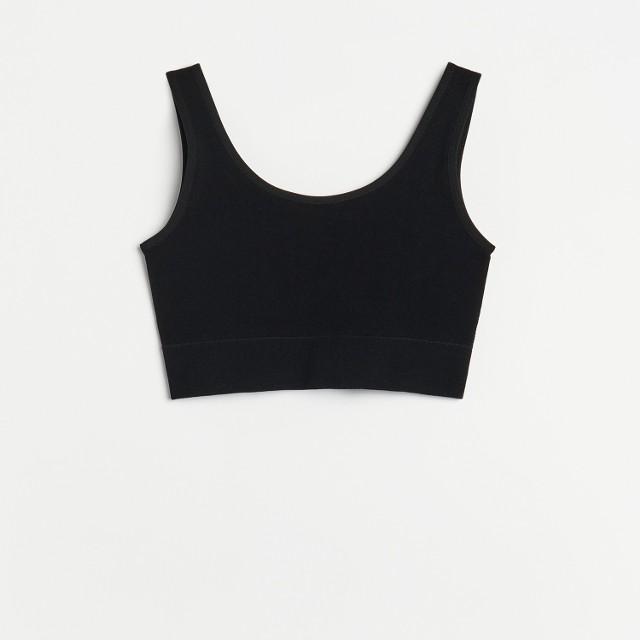 Reserved - Dzianinowy top - Czarny