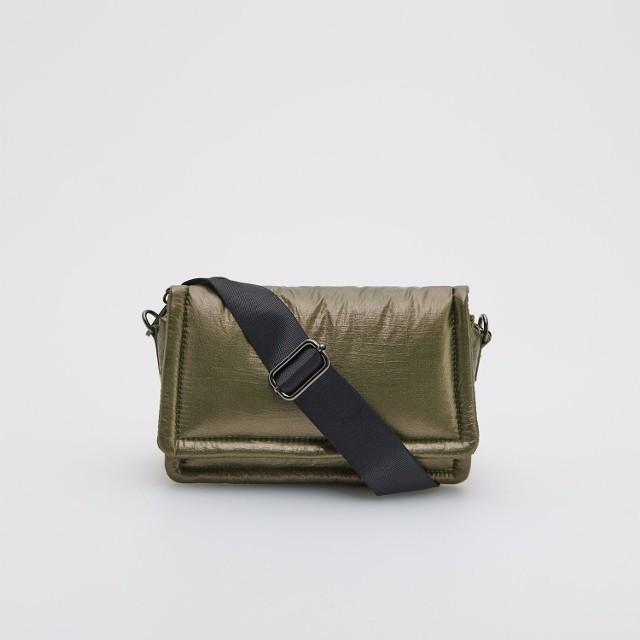 Reserved - Połyskująca torebka - Khaki