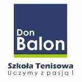 Logo firmy Szkoła Tenisa Don Balon, korty, serwis rakiet