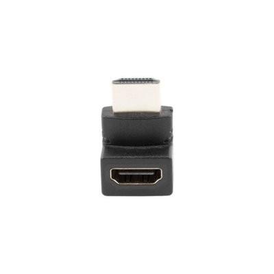 LANBERG Adapter HDMI(M) - HDMI(F) Kątowy 90 stopni górny Czarny