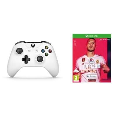 TF5-00004 Biały do Xbox One + FIFA 20 Kontroler Bezprzewodowy MICROSOFT