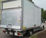 Logo firmy Transport, przewóz maszyn, urządzeń. Winda + paleciak + pomoc kierowcy