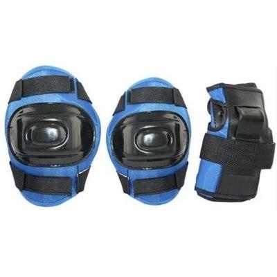 Ochraniacze na rower NILS EXTREME H108 Czarno-niebieski dla Dzieci (rozmiar XS)
