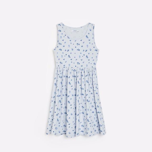 Reserved - Sukienka z marszczeniem - Fioletowy