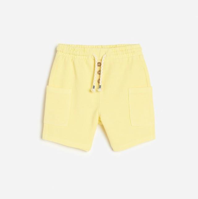Reserved - Dzianinowe szorty - Żółty