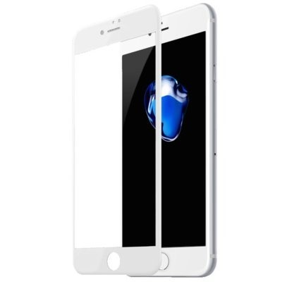 Szkło hartowane BASEUS 3D do iPhone 7 Plus/8 Plus Biały