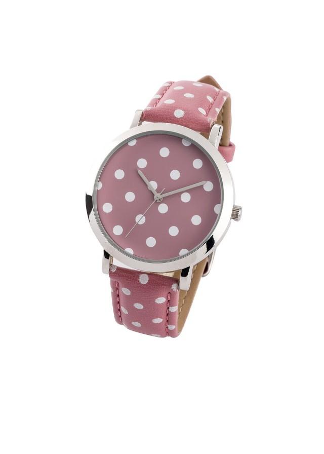 Zegarek na rękę bonprix jeżynowy sorbetowy - biały