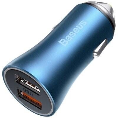Ładowarka samochodowa BASEUS Golden Contactor Pro 40W Niebieski