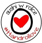 Logo firmy Handrollove - sushi w rolce
