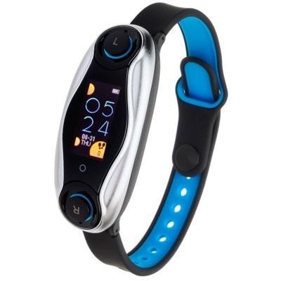 Smartband GARETT Fit Audio + Słuchawki Czarno-niebieski