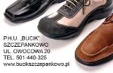 """Logo firmy PHU """"BUCIK"""" Szewc Naprawa Obuwia"""