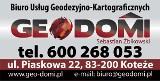 Logo firmy Biuro Usług Geodezyjno -KartograficznychGeo-Domi Sebastian Żbikowski