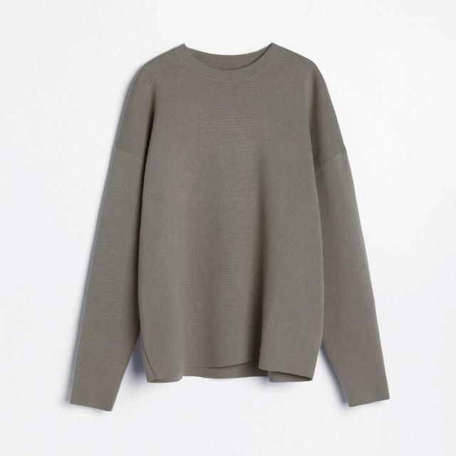 Reserved - PREMIUM Sweter o drobnej strukturze - Zielony