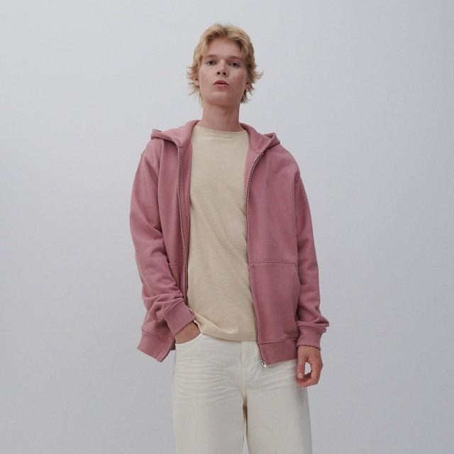 Reserved - Rozpinana bluza z bawełny organicznej - Fioletowy