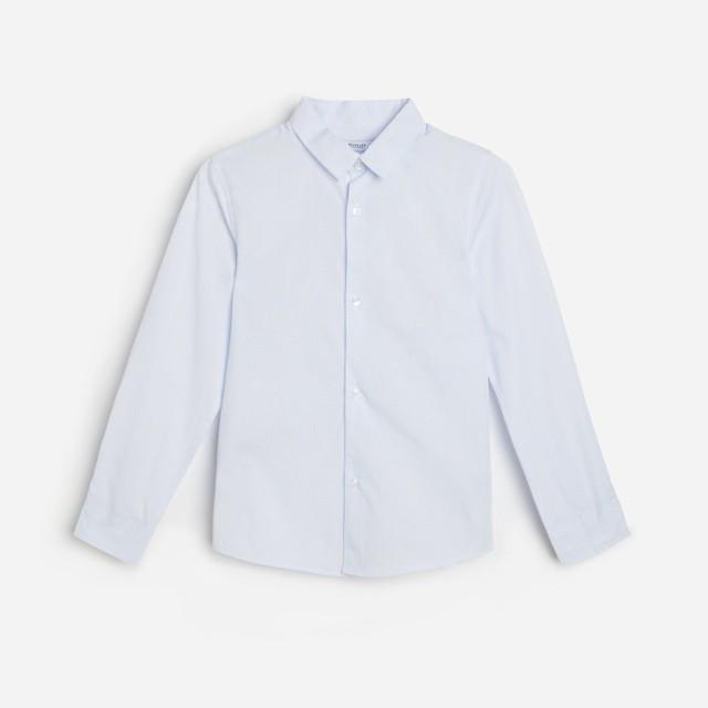 Reserved - Elegancka koszula w kratę z bawełny organicznej - Niebieski