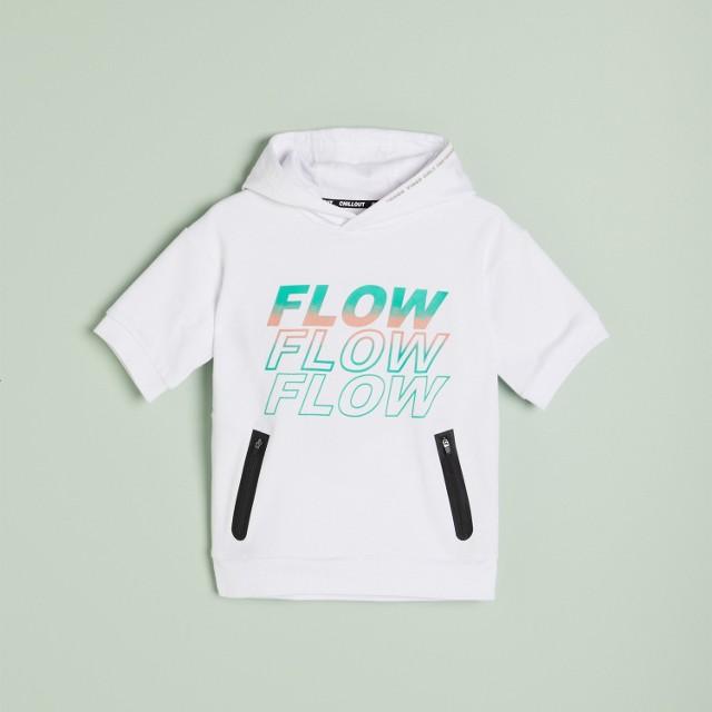 Reserved - Bawełniana bluza z nadrukiem - Biały