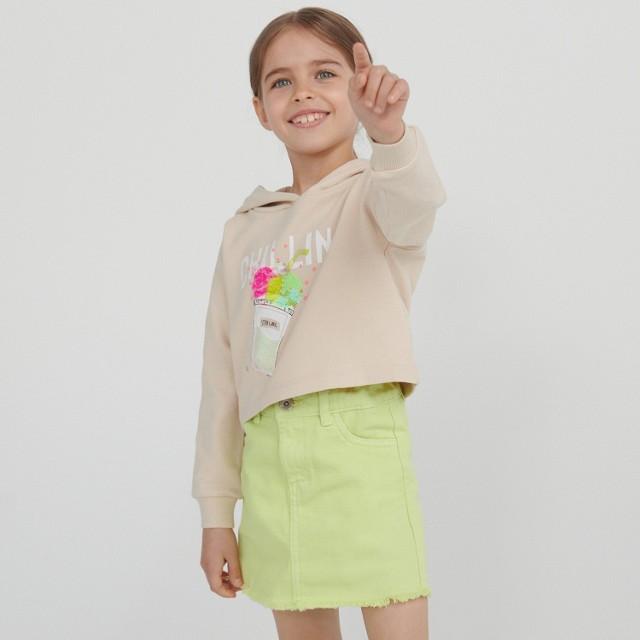 Reserved - Jeansowa spódnica - Zielony