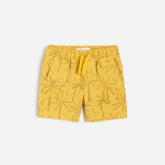 Reserved - Wzorzyste szorty - Żółty