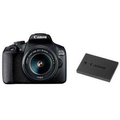 Lustrzanka cyfrowa CANON EOS 2000D + 18-55mm IS II + LP-E10